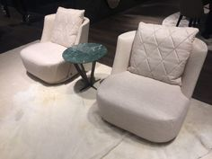 Armless Chairs for Living or Bedroom in Grey