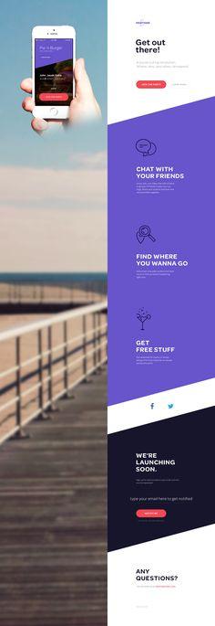 love love love the diagonal background. onepage website. #landingpage #webdesign