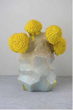 ceramic sculpture flower tree by matt wedel #clay #art