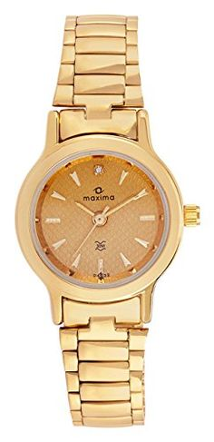 Maxima Analog Gold Dial Women's Watch – 04632CMLY