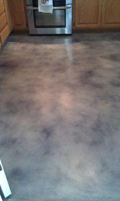 signature grey/black cement floor