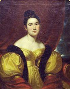 Portrait of Margaret Amelia Leggett, Frederick R. Spencer, 1834, oil on canvas, 31 3/8 in. x 25 7/16 in. Currier Museum of Art.