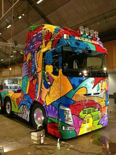 Colourful truck