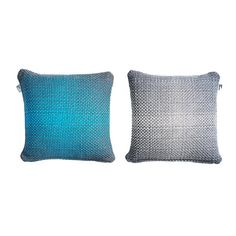 Two Side Gradient // Blue-Grey Cushion Cover by Simon Key Bertman, $79 !!