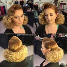 Vintage 1050 Curls with Foam Rollers - Popular Vintage 1950s Hairstyles, Permed Hairstyles, Vintage Hairstyles, Short Permed Hair, Short Cropped Hair, Teased Hair, Bouffant Hair, 80s Big Hair, Bad Hair