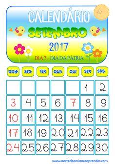Calendário reformulado - Setembro 2017