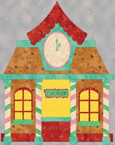 12 Days of Christmas - Train Station 4 Left Border | Craftsy #SeamsToBeSew #Christmas2016 #Gingerbread Village