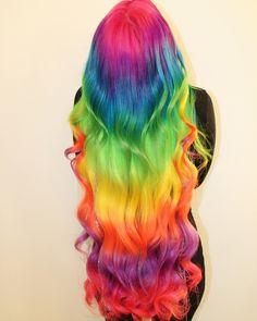 97 Cool Rainbow Hair Color Ideas To Rock Your Summer 28 Rainbow Hair Colors Ide. 97 Cool Rainbow Hair Color Ideas To Ro. Hair Dye Colors, Cool Hair Color, Rainbow Hair Colors, Hair Colour, Hidden Rainbow Hair, Pelo Multicolor, Coloured Hair, Unicorn Hair, Dream Hair
