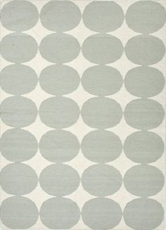 Polka Dog Area Rug in White and Pastel Blue