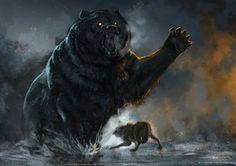 Beautiful bear artwork.