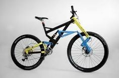 With its patented Trelever front suspension, this bike certainly has a unique look. The company is now looking to make the Scurra Hard Enduro Mtb, Mountain Biking, Hobbies, Wheels, Bicycle, Racing, Retro, Unique, Sweet