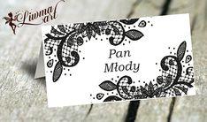 winietka koronkowa czarno-biała #winietka #czarno-biała #wignettes #lace #koronkowa #koronka #ślub #wesele