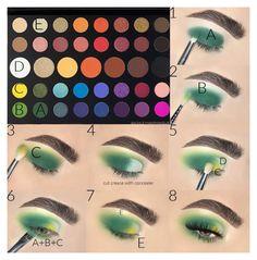 Makeup Eye Looks, Eye Makeup Steps, Eye Makeup Art, Hair Makeup, Summer Eye Makeup, Makeup For Green Eyes, Creative Eye Makeup, Colorful Eye Makeup, Eye Makeup Designs