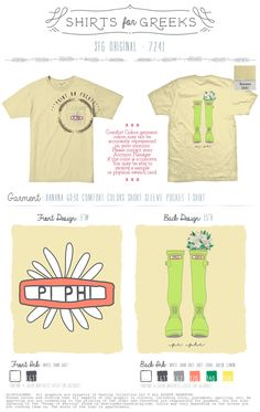 Pi Phi | April Showers | May Flowers | Summer Time | Spring Rain | Boots | Floral | Adorable | Daisy | Sorority Life | Sisterhood | Greek | T-Shirt Ideas | Cute | shirtsforgreeks.com