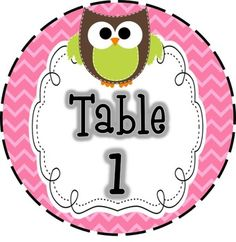 Bright Owl Table Signs by Second Grade Discoveries | Teachers Pay Teachers