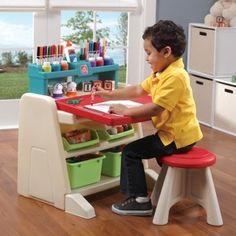 Step2 Flip & Doodle Desk- Teal & Lime Wooden Play Centres, Plastic Play Centres, Play Centre Accessories, Play Centre Spare Parts, Play Centres