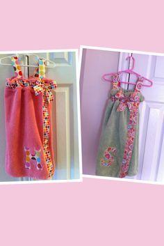 Saída de banho....p....SewCal Girl: Towel wraps for the girls.