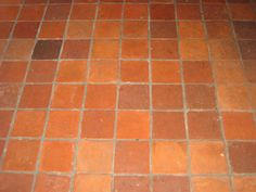 MY FLOOR TILES only 300x300 terracotta nearly 50?ml thick @ $7 m2 (because my daddy is selling them to me otherwise i'd be stuck with painted concrete)