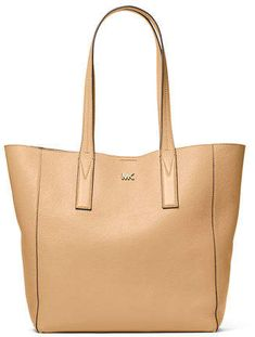 835619eadb78e Michael Kors Voyager Textured Crossgrain Leather Tote- Soft Pink ...