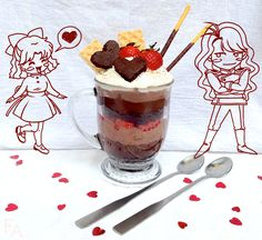 """Food Adventures (in fiction!): The Chocolate Parfait That Never Was for """"Sailor Moon"""""""