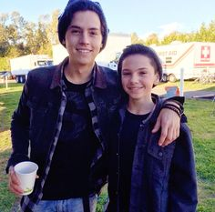 Betty & Jughead, jackmoore003 On the set of Riverdale with Cole...