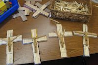 """Great Christian Craft Project... using clothes pins to make a unique cross and share the concept of """"pinning our hopes on Christ""""."""
