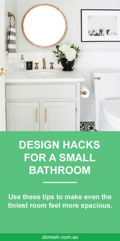 Inspo // Art in bathroom // Space is one thing many bathrooms lack. But with some clever planning and product selection, there are plenty of ways to make the most of what you've got. Bathroom Interior, Bathroom Inspo, Bathroom Ideas, Beautiful Bathrooms, Home Decor Bedroom, Small Bathroom, Clever, Interior Design, House Styles