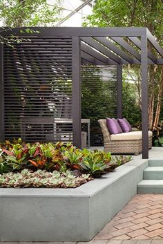 - Pergola DIY Bamboo - Pergola Designs Steel, - DIY Bamboo Pergola - Steel Pergola Designs While ancient inside notion, a pergola have been going through somewhat of a contemporary rebirth all these days. Patio Gazebo, Garden Gazebo, Backyard Patio, Garden Beds, Backyard Landscaping, Pergola Roof, Garden Privacy, Terrace Garden, Grill Gazebo