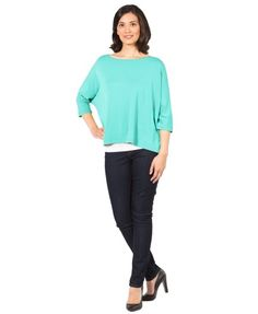 your PURE DOLMAN TOP - Aquamarine. UPF 50+. Sun protection meets style!
