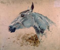 White 'Gazelle' Horse (oil on canvas) by Henri de Toulouse-Lautrec / Musee Toulouse-Lautrec, Albi, France / Mondadori Portfolio