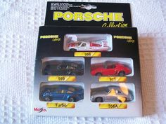 PORSCHE 911 TURBO 956 959 356A DIECAST CATS MAISTO 1:60 SCALE BOXED