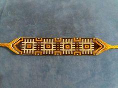 Seed Bead Jewelry, Bead Jewellery, Seed Beads, Bead Loom Patterns, Beading Patterns, Jaime Garcia, Bead Loom Bracelets, Loom Beading, Handmade Jewelry