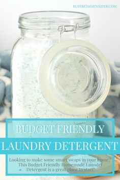 Looking to make some smart swaps in your home? This Budget Friendly Homemade Laundry Detergent is a great place to start! Bathroom Cleaning Hacks, House Cleaning Tips, Diy Household Tips, Homemade Laundry Detergent, Works With Alexa, Diy Skin Care, Home Repair, Clean House, Budgeting