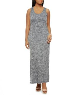Plus Size Marled Knit Maxi Dress