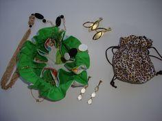 Porta bijuterias em tecido