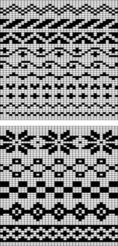 Easy Fair Isle charts - could adapt to crocheting