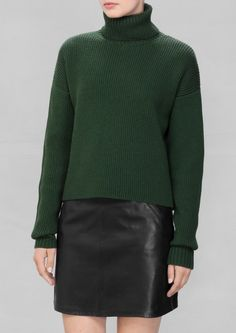 & Other Stories | Turtle Neck Sweater. Classic and sophisticated, this neck-warming knit sweater is made from cozy wool.