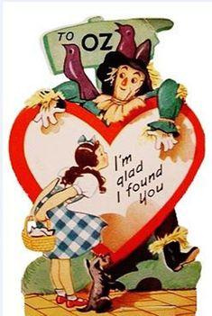 """vintagegal: """" Vintage Valentines: Wizard of Oz valentine cards c. Valentine Images, My Funny Valentine, Vintage Valentine Cards, Vintage Greeting Cards, Vintage Holiday, Valentine Day Cards, Vintage Postcards, Happy Valentines Day, Valentine Craft"""