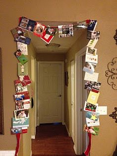 My Christmas card display