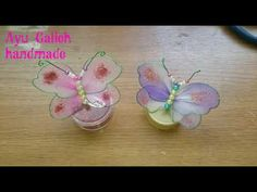 HOW TO MAKE NYLON STOCKING BUTTERFLY - YouTube