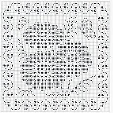 filet crochet ~ consider making a quilt like this, from one-inch squares :) Filet Crochet Charts, Crochet Cross, Crochet Diagram, Thread Crochet, Crochet Motif, Crochet Designs, Crochet Doilies, Crochet Stitches, Knit Crochet