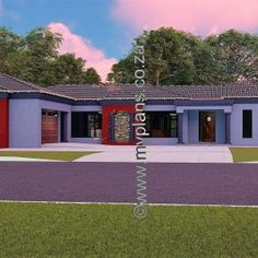 3 Bedroom House Plan – My Building Plans South Africa Village House Design, Village Houses, Architect Fees, Round House Plans, Double Storey House Plans, House Plans South Africa, 5 Bedroom House Plans, Building Plans, Mlb