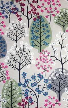 flowering trees : floral : The Swedish Fabric Company