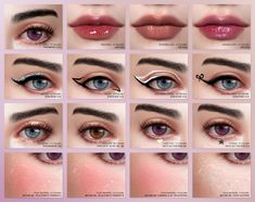 EVERYDAY DOLL XXL Makeup Collection | Pralinesims on Patreon Heterochromia Eyes, Miss Your Face, Graphic Eyeliner, Love Lips, Lip Shapes, Metal Stars, Sims 4 Cc Finds, Glossy Lips, Star Tattoos
