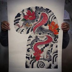 I quite simply am into the shades, outlines, and fine detail. This is certainly a great concept if you are looking for a Japanese Geisha Tattoo, Japanese Snake Tattoo, Japanese Sleeve Tattoos, Samurai, Blackout Tattoo, Ink Instagram, Dragon Sleeve Tattoos, Snake Art, Traditional Japanese Tattoos