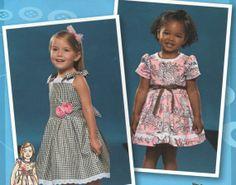Infants & Toddlers Little Girls Tie Waist Dress, Sun Dress Sewing Pattern by TheOldLeaf, $7.99 #ToddlerDresses #InfantDresses