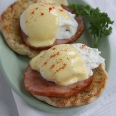 The secret to success with this dish is the quality of its parts. Adding a generous amount of vinegar to the poaching liquid—a restaurant trick—helps the eggs form into perfect spheres, and making the hollandaise in a blender whips the sauce into a smooth, emulsified state, so it isn't as likely to separate as the version made by hand with a whisk. See the recipe &raquo