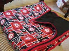 Handmade University of Alabama Blanket by Nenesblankets on Etsy