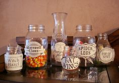 Transform plain containers into instant Halloween decorations with these printable labels!