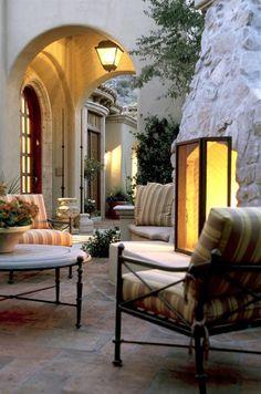 Lovely outdoor living area | David Michael Miller Associates